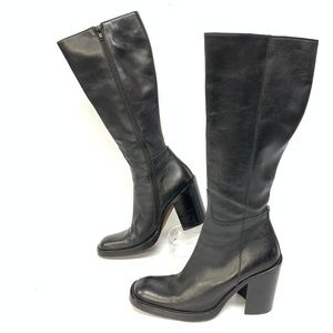 "Aldo Womens Leather Zip Up Calf Length 3"" Boots"